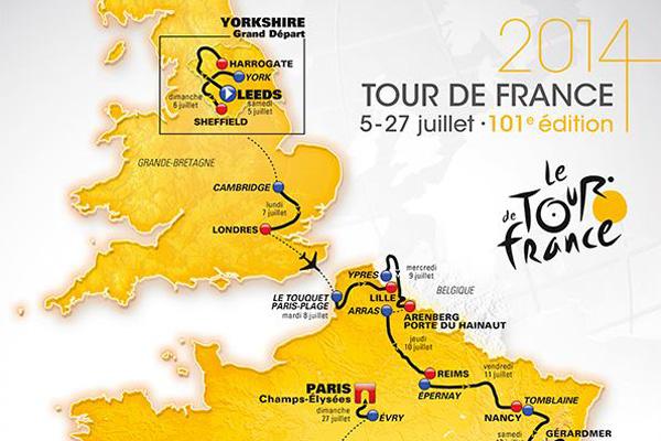 tour de france 2014 map