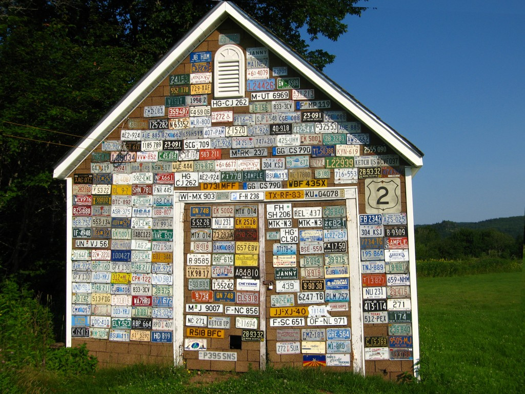 License-plate-shed