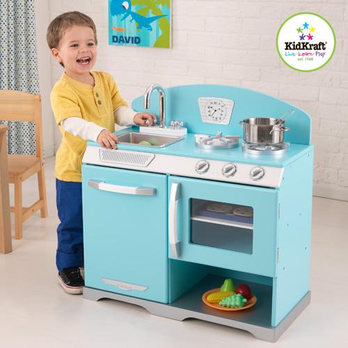 KidKraft retro blue stove