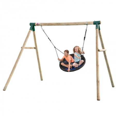 Plum Spider Monkey II Wooden Garden Swing Set