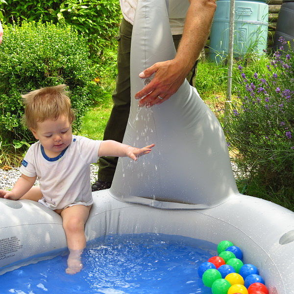 Baby in Paddling Pool with supervision