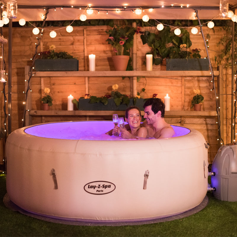 10 key benefits of inflatable hot tubs all round fun. Black Bedroom Furniture Sets. Home Design Ideas
