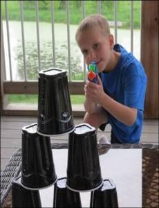Water Gun Target Practice