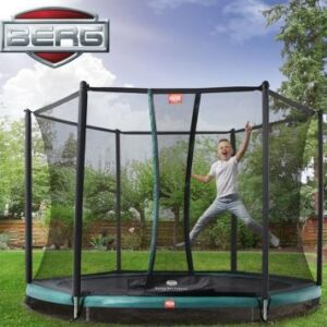Child bouncing on a trampoline