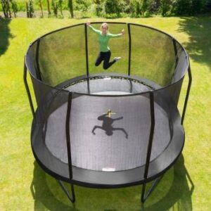 Childing jumping on Oval trampoline