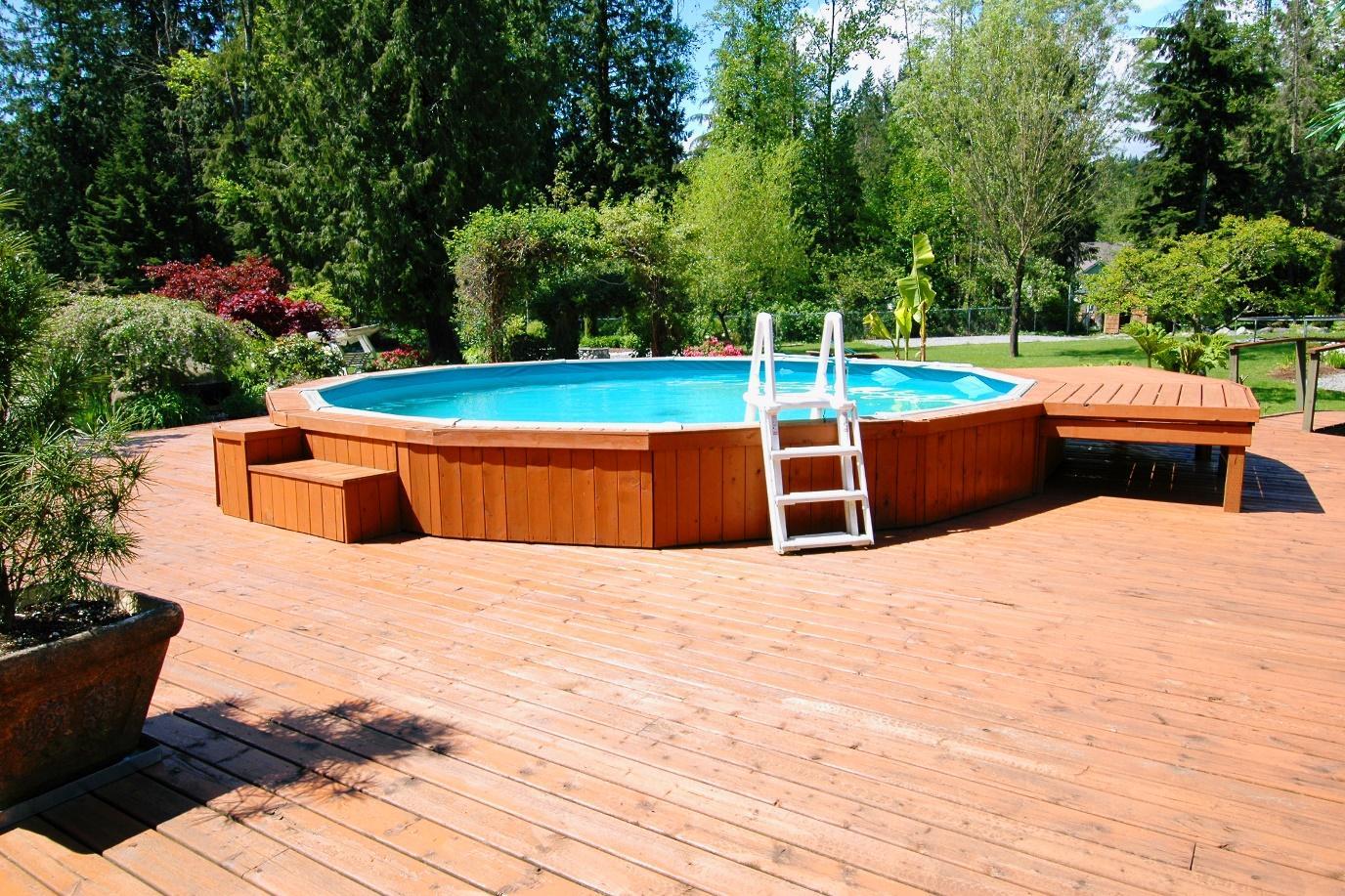 Pool built on top of decking