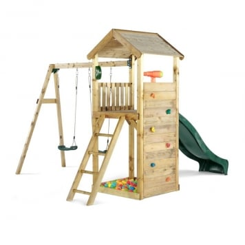 Plum Wooden Lookout Tower with Swing Arm