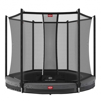 BERG Favorit 6.5ft Grey In-Ground Trampoline and Safety Net