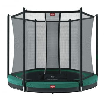 BERG Favorit 11ft Green In-Ground Trampoline and Safety Net