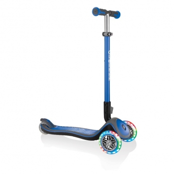 Globber Scooter Elite Deluxe Lights Navy Blue