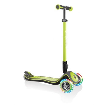 Globber Scooter Elite Deluxe Lights Lime Green