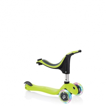Globber Scooter 4 in 1 Lights Lime Green