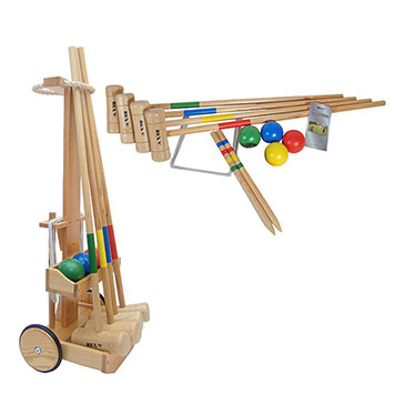 Bex 4 Player Croquet Set with Trolley