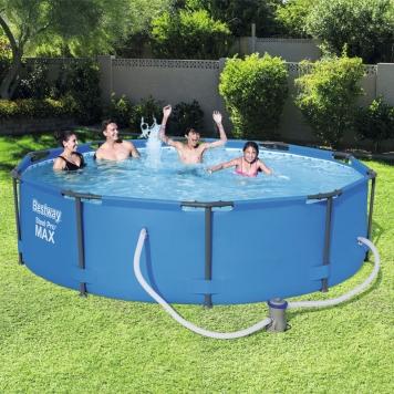 Bestway 10ft steel pro frame pool set 4 678l all round fun for Piscina trigano jardin