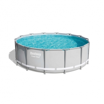 Bestway 14ft x 48in Grey Power Steel Frame Pool Set