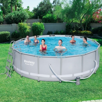 Bestway 14ft x 42in Power Steel Frame Pool Set