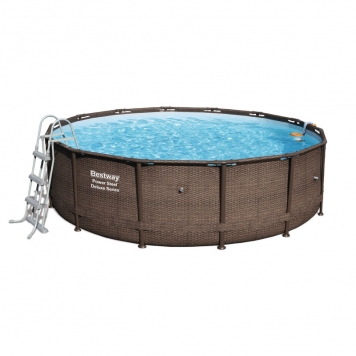 Bestway 14ft x 42in Power Steel Deluxe Frame Pool Set