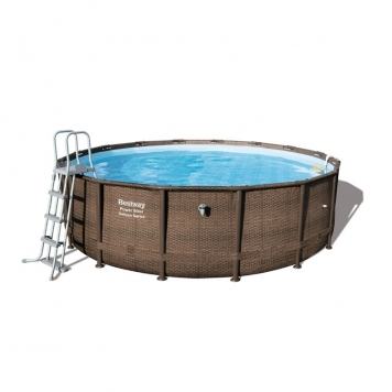 Bestway 16ft x 48in Power Steel Deluxe Frame Pool Set