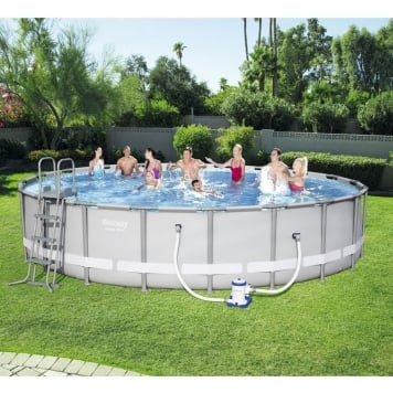 Bestway 20ft x 48in Power Steel Frame Pool Set
