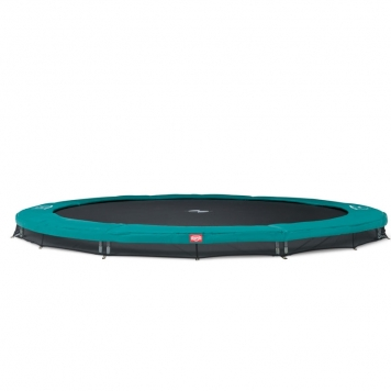 BERG Favorit 14ft Green In-Ground Trampoline and Safety Net