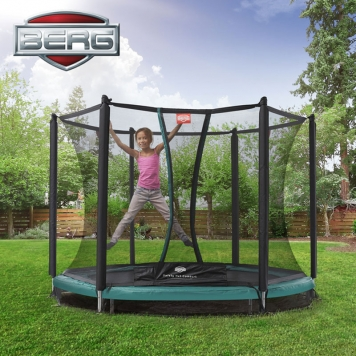 BERG Talent 8ft In-Ground Trampoline and Safety Net Comfort