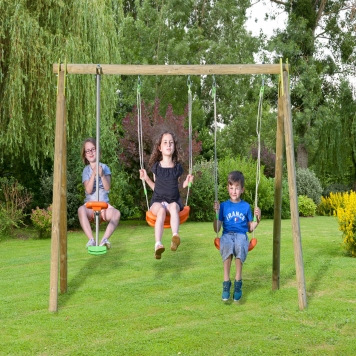 Trigano Jardin Natura Berry Wooden Swing and Glider Set