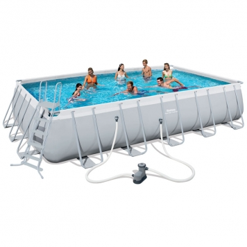 Bestway 22ft x 12ft x 52in Power Steel Frame Pool Set