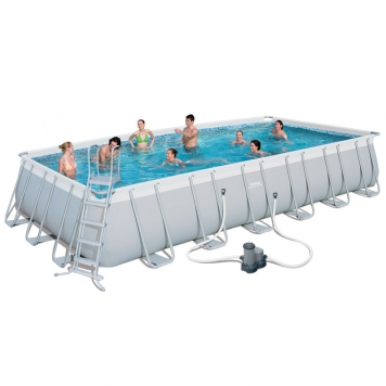 Bestway 24ft x 12ft x 52in Power Steel Frame Pool Set