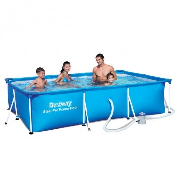 Bestway 9ft 10 x 6ft 6 x 26in Steel Pro Frame Pool Inc Filter Pump