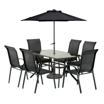 Cayman 6 Seater Rectangular Dining Set