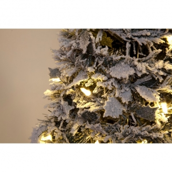 5ft Snow Flocked Pre-Lit Pop-Up Christmas Tree with Warm White LEDs