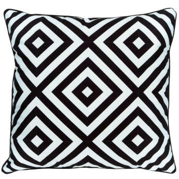 45cm Monochrome Shower Proof Cushions Pack of 3