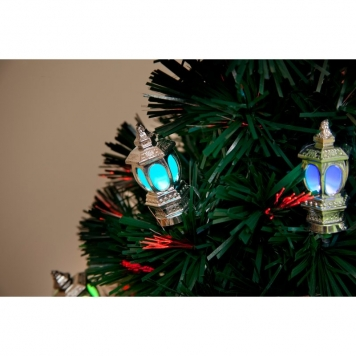 4ft Victoriana Fibre Optic Chrismtas Tree with LED Lanterns
