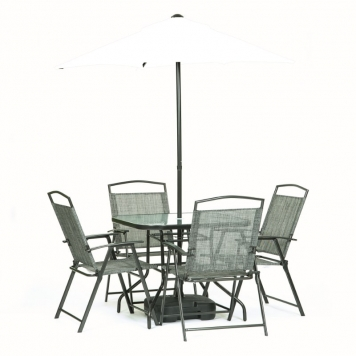 Oasis 4 Seater Garden Dining Set With Parasol