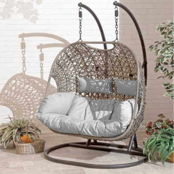 Brampton Double Cocoon Cushioned Swing Chair