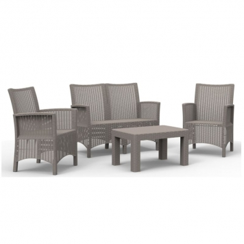 Sicily 4 Piece Lounge Set