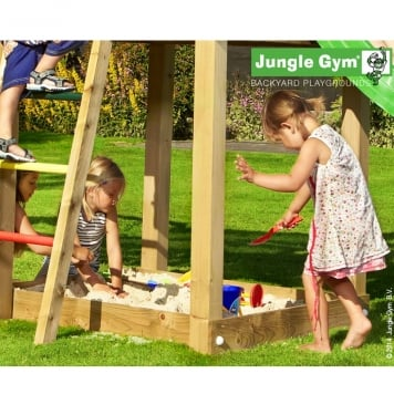 Jungle Gym Jungle Chalet inc Timber and Slide