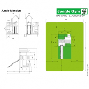 Jungle Gym Jungle Mansion inc Timber and Slide