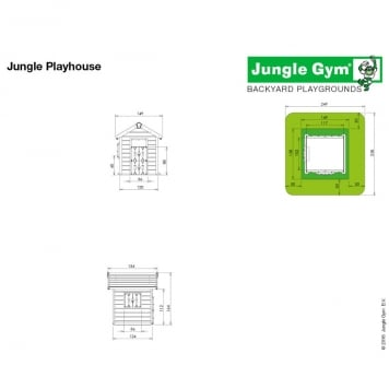 Jungle Gym Playhouse Grow with Me Small