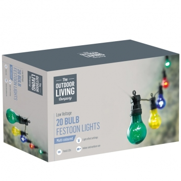 20 Bulb Multi-Coloured LED Party Lights