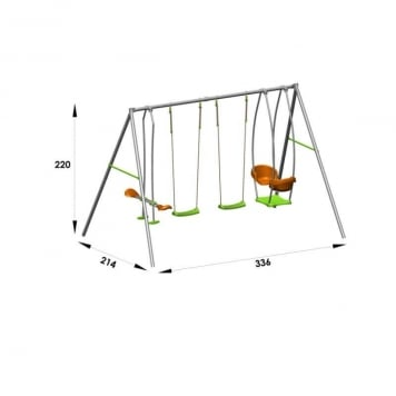 Trigano Jardin Axion Jade Metal Swing Set