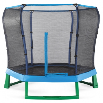 Plum 7ft Blue Junior Jumper Trampoline and Enclosure
