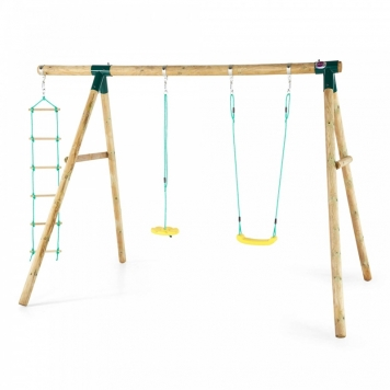 Plum Macaque Wooden Swing Set