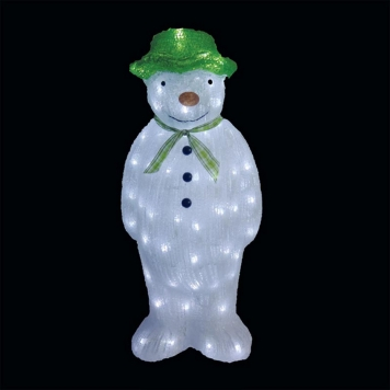 55cm Acrylic The Snowman with 100 Ice White LED Lights
