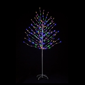 6ft Rainbow Tree with Pink, Warm White, Blue and Green LED Lights