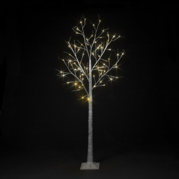 6ft Warm White LED Indoor and Outdoor Birch Tree