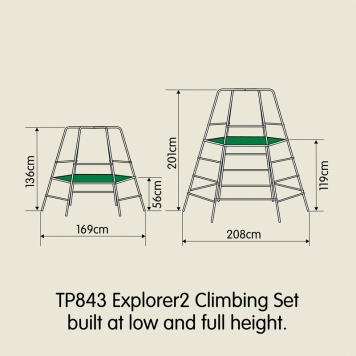 TP Toys Explorer Climbing Frame with Platform and Den