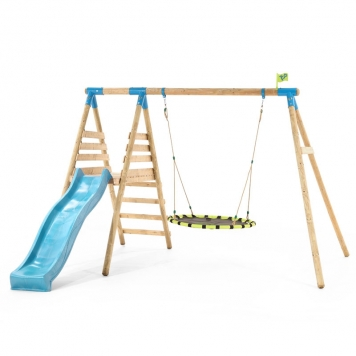 TP Toys Fiordland Wooden Swing Set & Slide