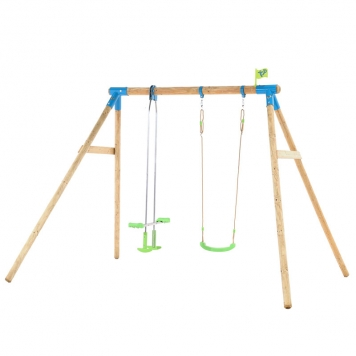 TP Toys Nagano Wooden Double Swing Set