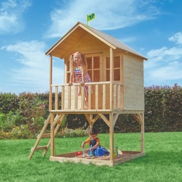 TP Toys Hill Top Wooden Tower Playhouse